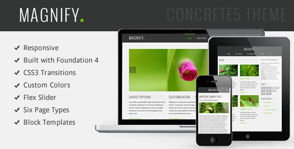 Magnify Responsive Multipurpose Concrete5 Theme