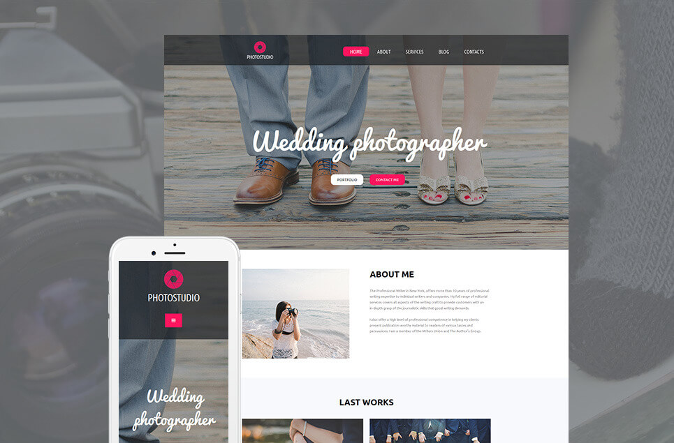 Wedding Photographer Moto CMS 3 Template