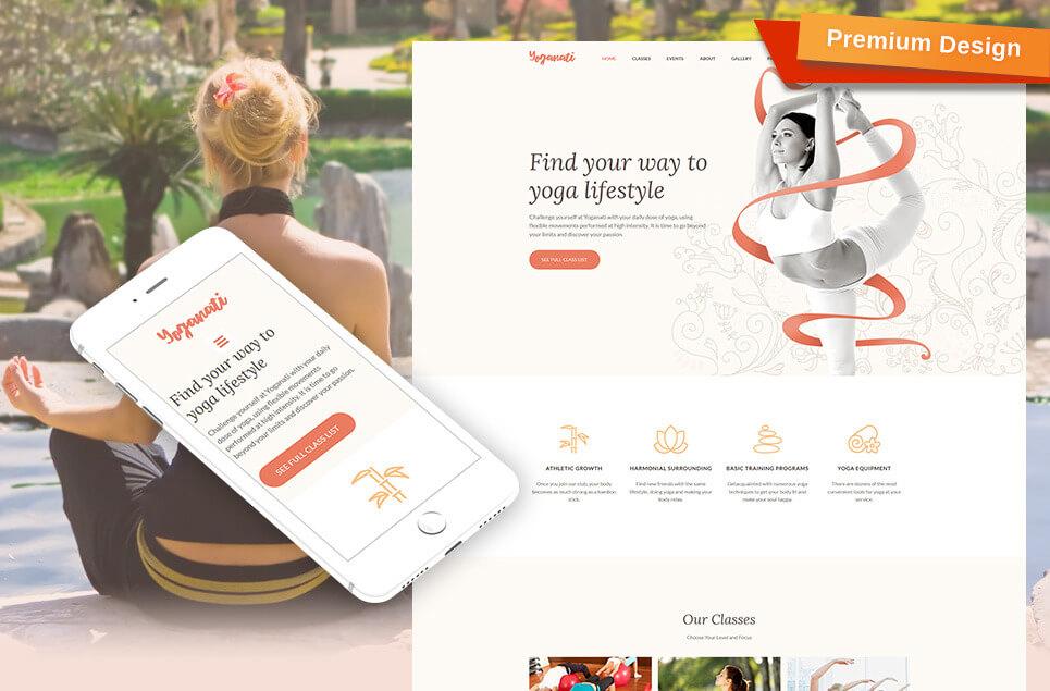 Yoganati - Premium Moto CMS 3 Template