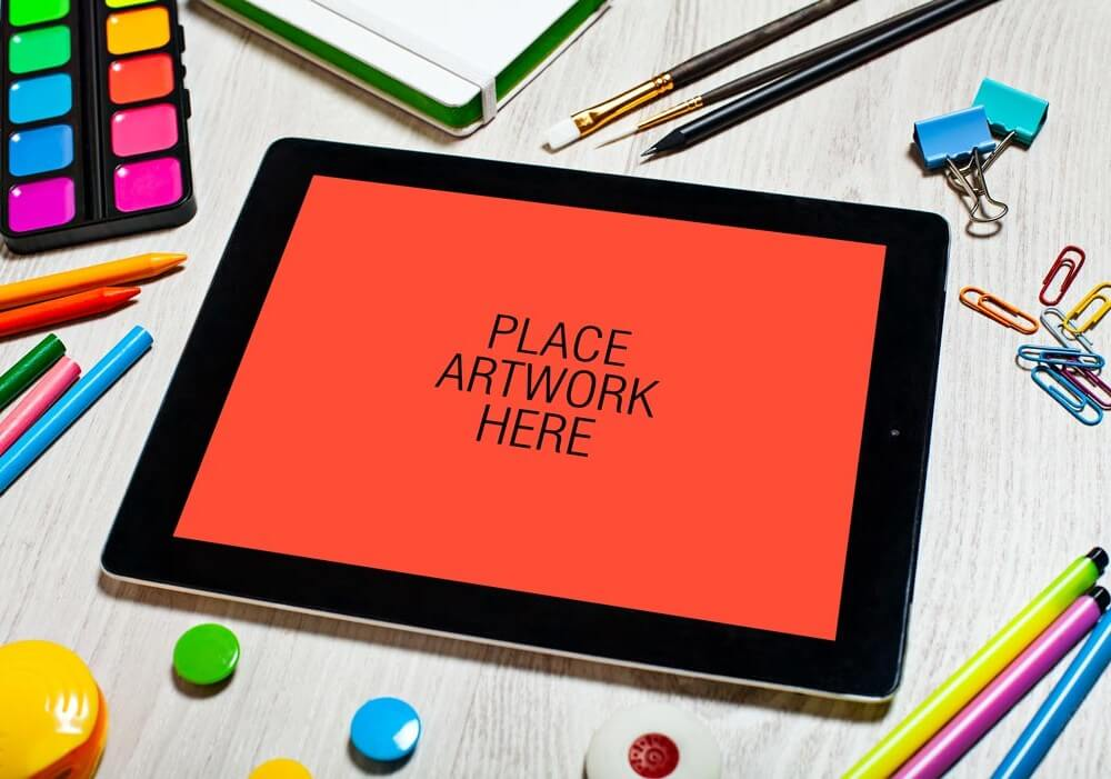 Artistic Workspace iPad Mockup