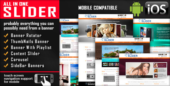 All In One Slider Responsive Jquery Slider Plugin