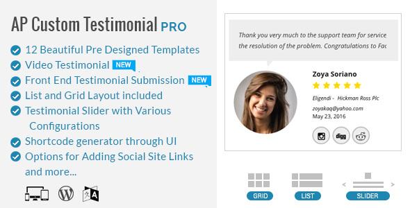 AP - Custom Testimonials for WordPress