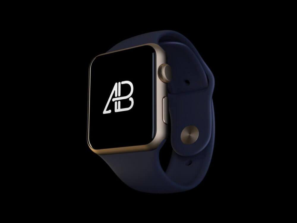 Floating Apple Watch Mockup