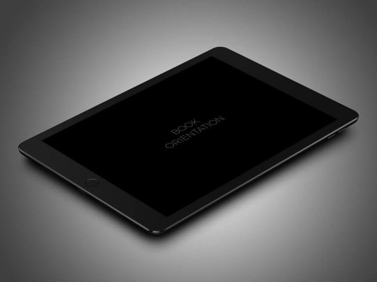 Black iPad Pro (9.7in) Mockup