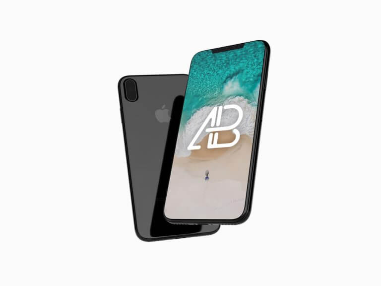 Floating JetBlack iPhone 8 Mockup