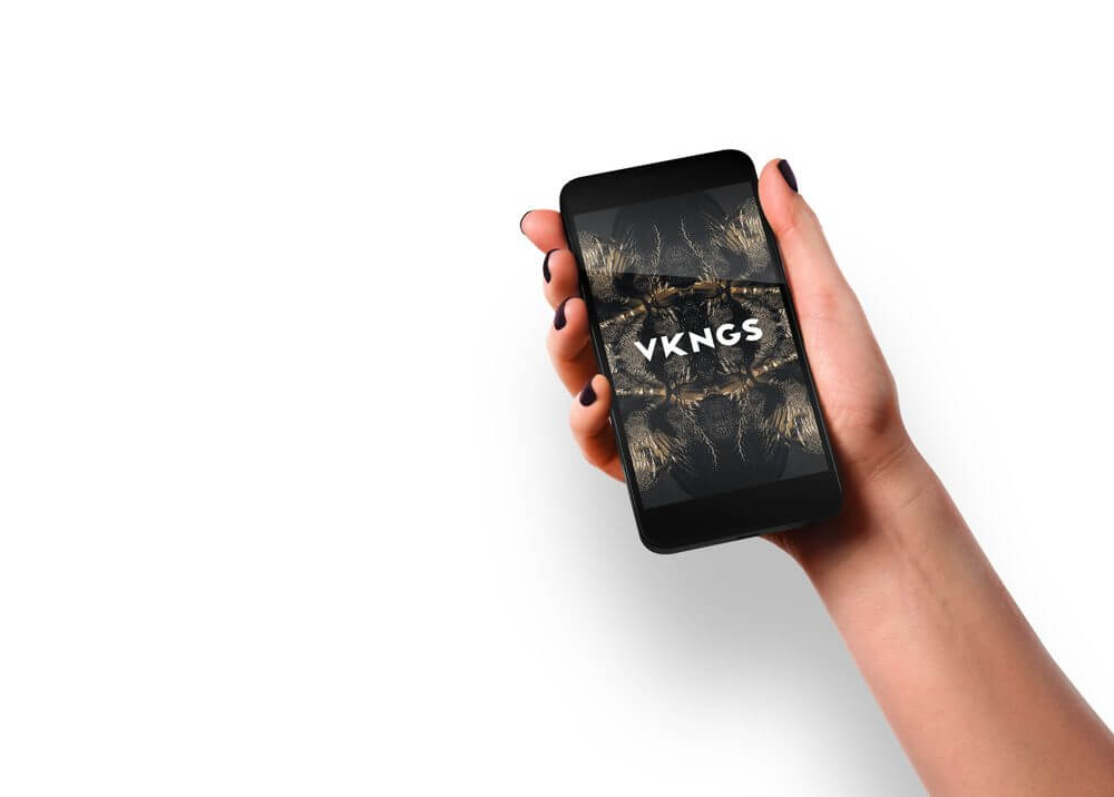 Female Hand holding iPhone Mockup