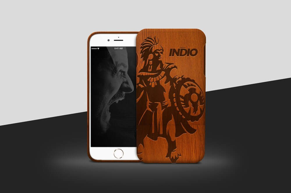 Wooden iPhone Case Mockup