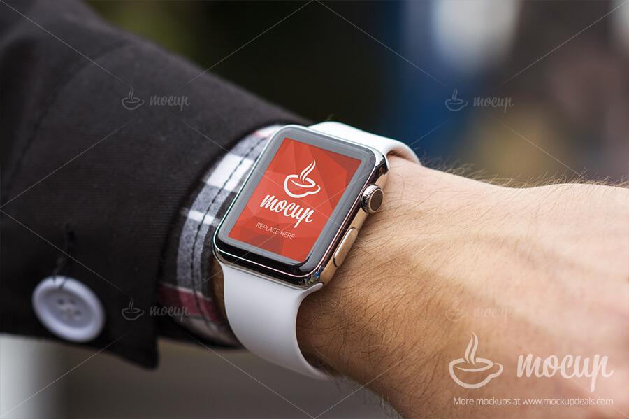Apple Watch Closeup Mockup