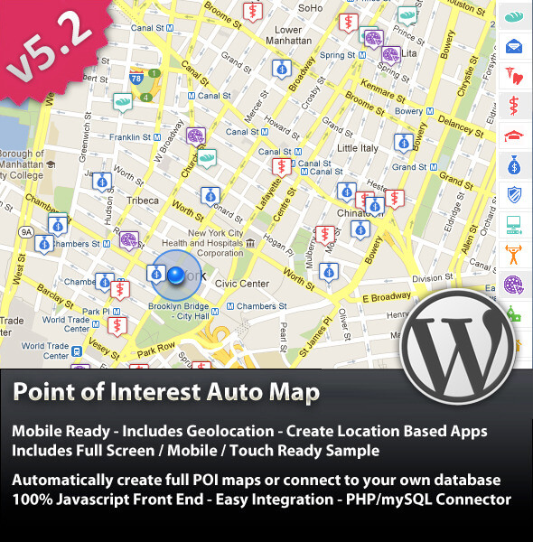 Point Of Interest (POI) Auto Map For WordPress