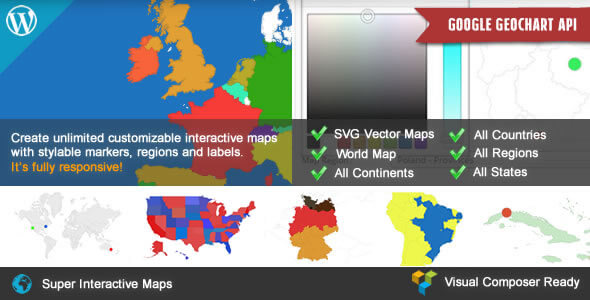 Super Interactive Maps for WordPress