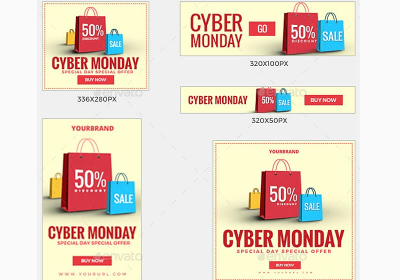108 Cyber Monday Banners