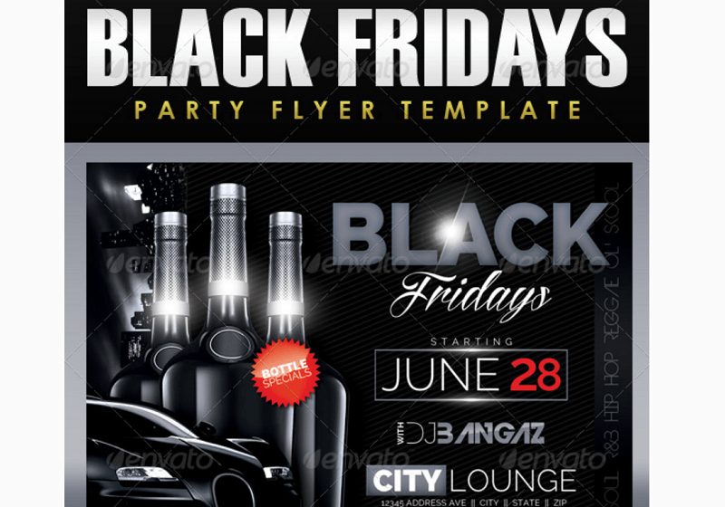 Black Fridays Party Flyer Template