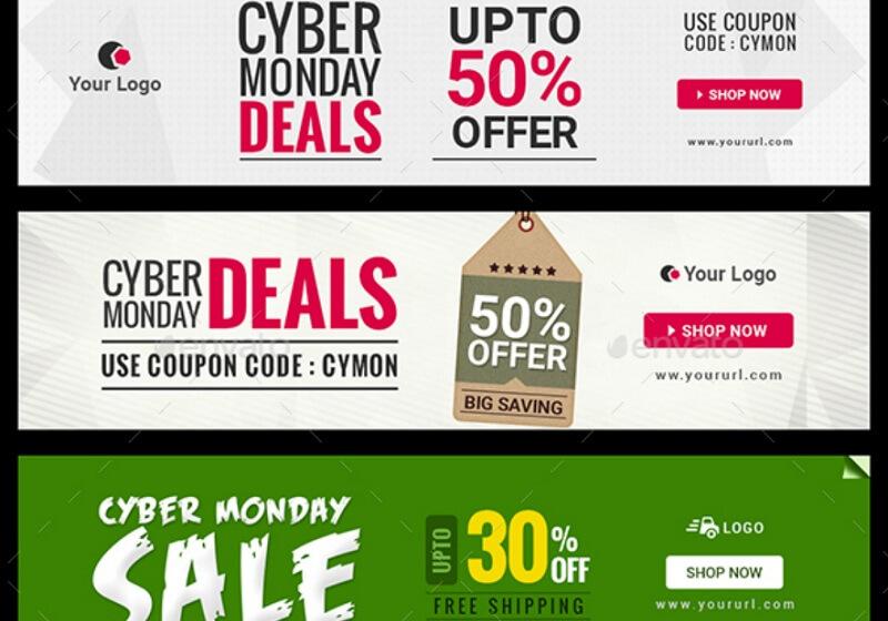 Cyber Monday Sale Banners Bundle - 3 Sets
