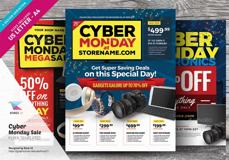 Cyber Monday Sale Flyer Templates