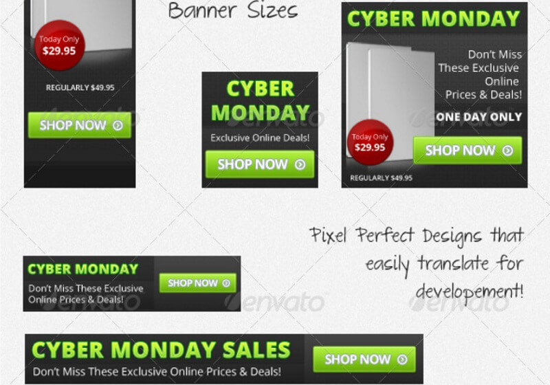 Cyber Monday Sales Banner Set