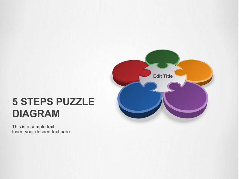 5 Steps Puzzle Diagram