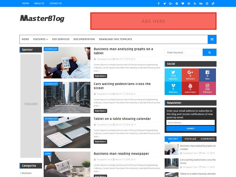 30 best free responsive blogger templates 2018 master blog wajeb Choice Image
