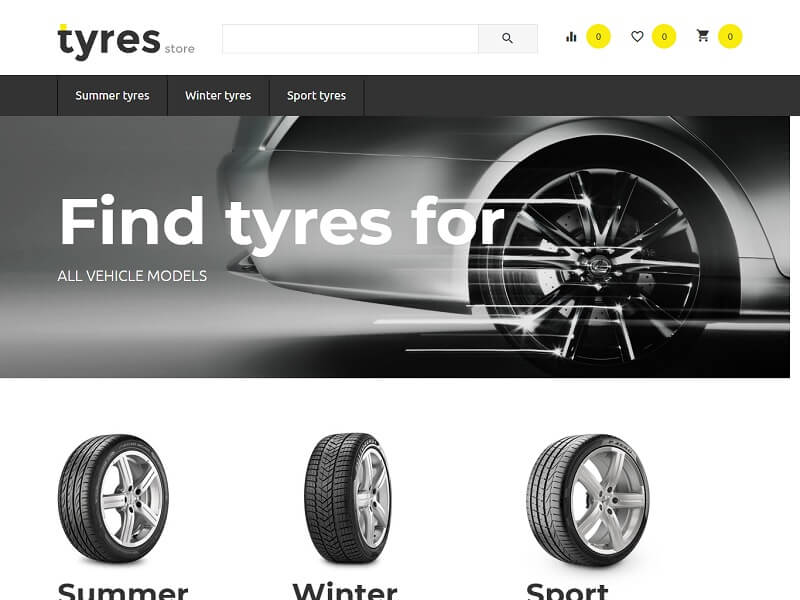 Wheels and tyres store