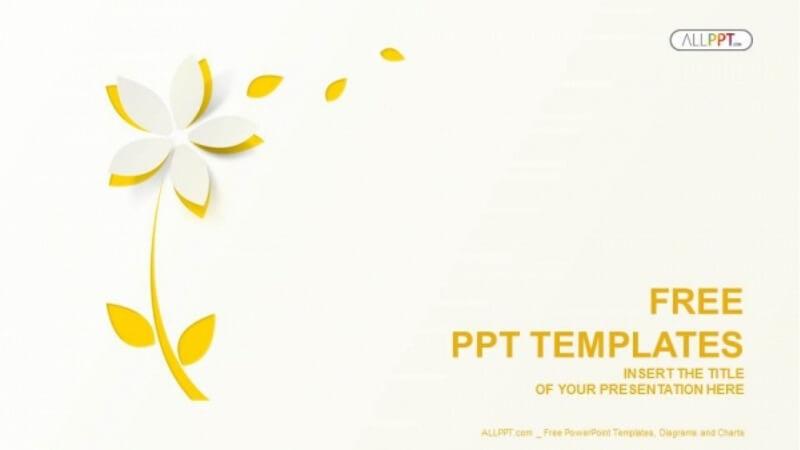 Yellow cutout paper flower