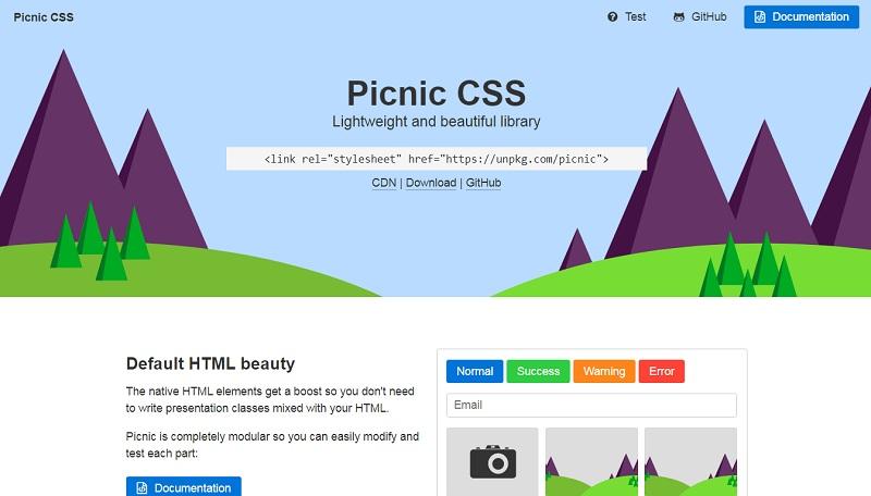 Picnic CSS