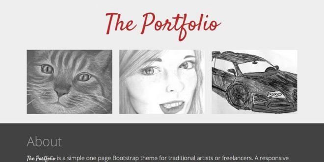 12 Best Free Portfolio Html Website Templates 2019
