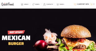 Food & Restaurant Html Website Templates