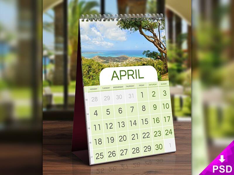 April Desk Calendar