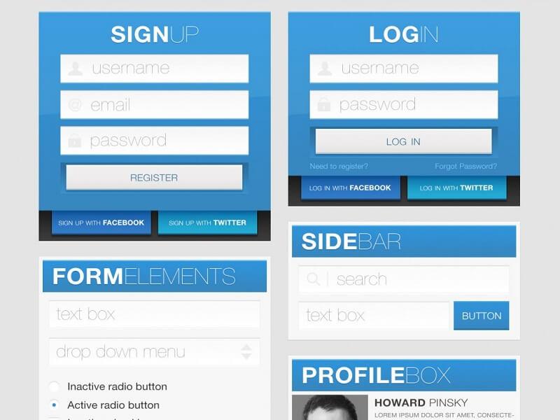 Blue Element Premium UI Kit