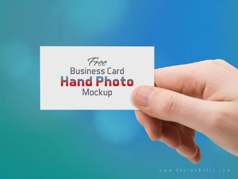 Business Card Hand Photo