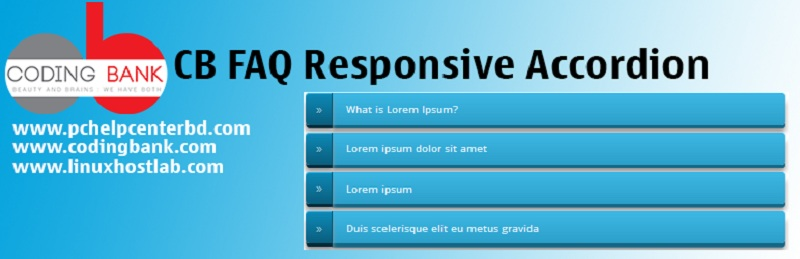 CB FAQ Responsive Accordion