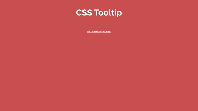 CSS Tooltip simples