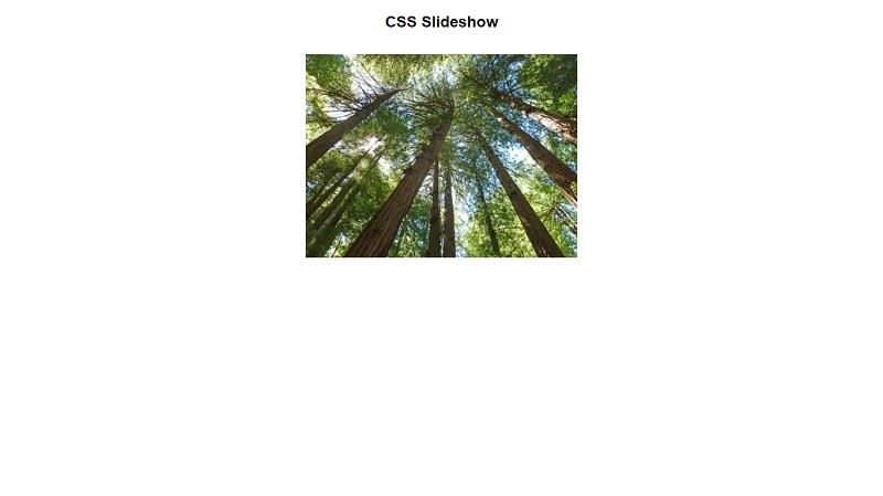 CSS slideshow