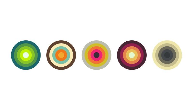 Color Palette Circles