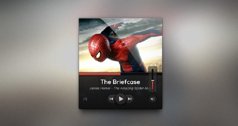 Dark UI Music Player Design