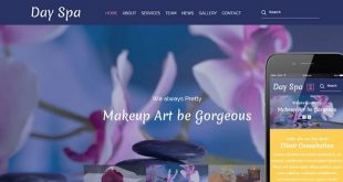 Free Spa and Salon Html Website Templates