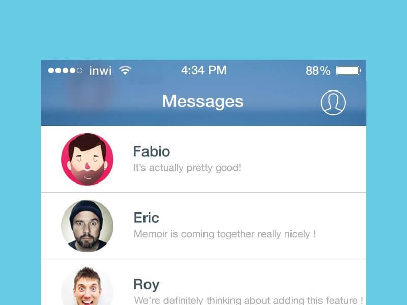 Facebook Messenger iOS 7 redesign