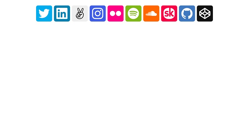Fancy Hover Social Buttons