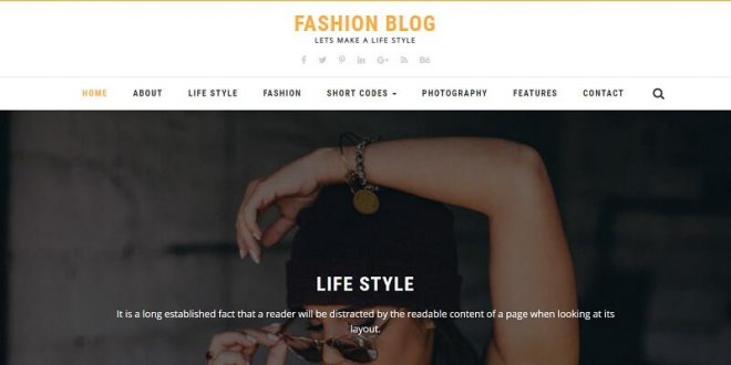 Free Blog Html Website Templates