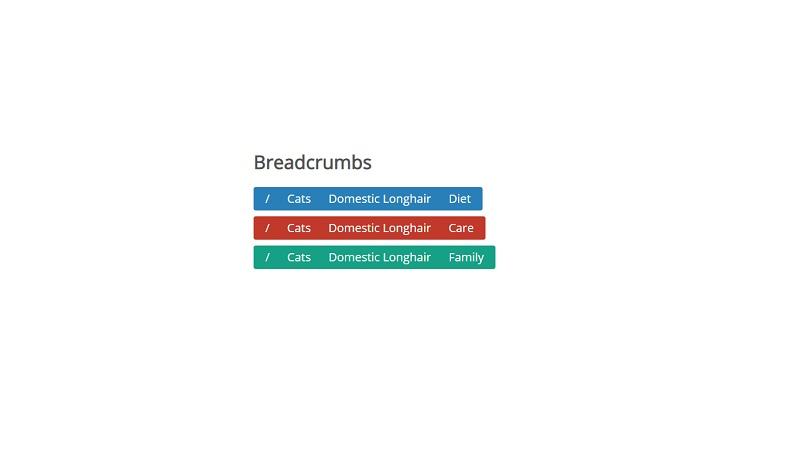 Flat Breadcrumb buttons