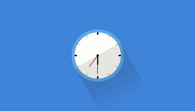 Flat CSS Clock
