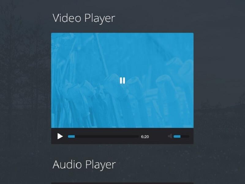 Flat Video / Audio Player