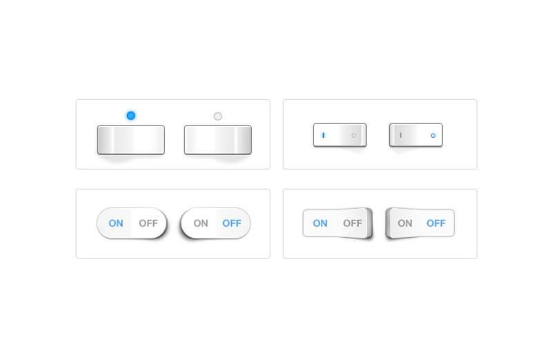 Free UI Toggle Switches