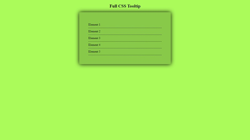 Full CSS Tooltip
