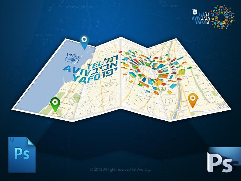 GIS Tel Aviv Logo Map