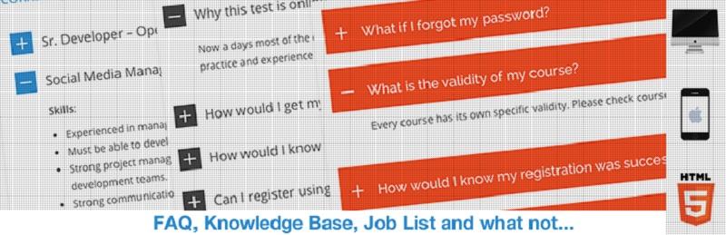 HTML5 Responsive FAQ