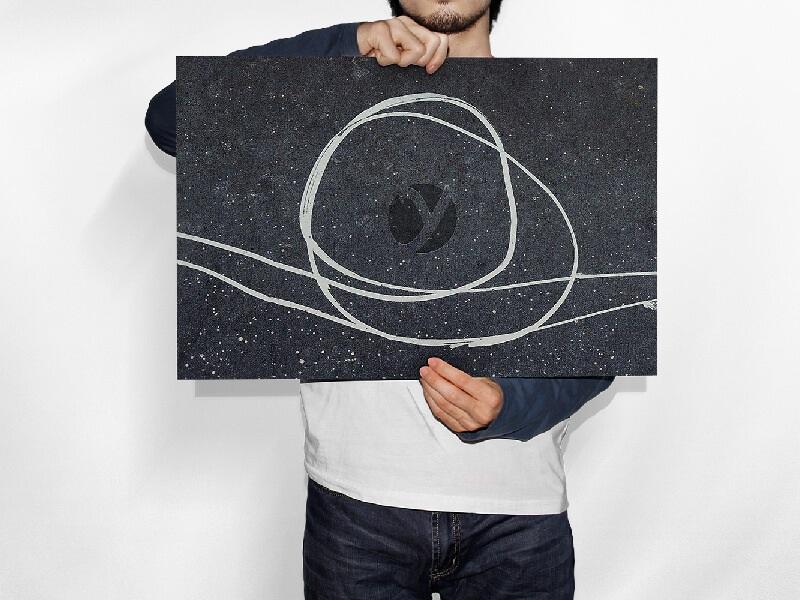 Man Holding (Horizontal) Paper