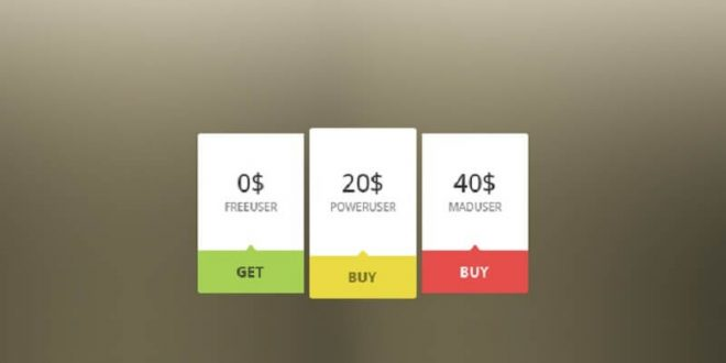 Free Pricing Table PSD