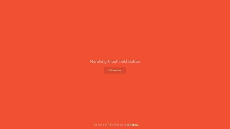 Morphing Input Field Button