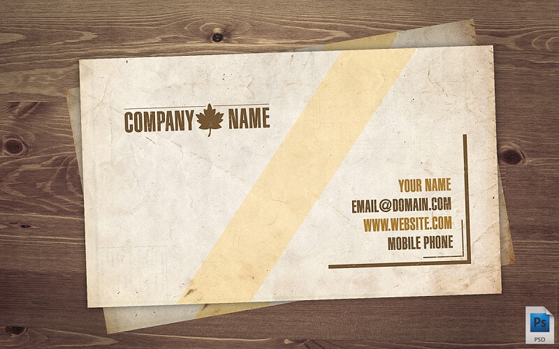 Old Business Card PSD