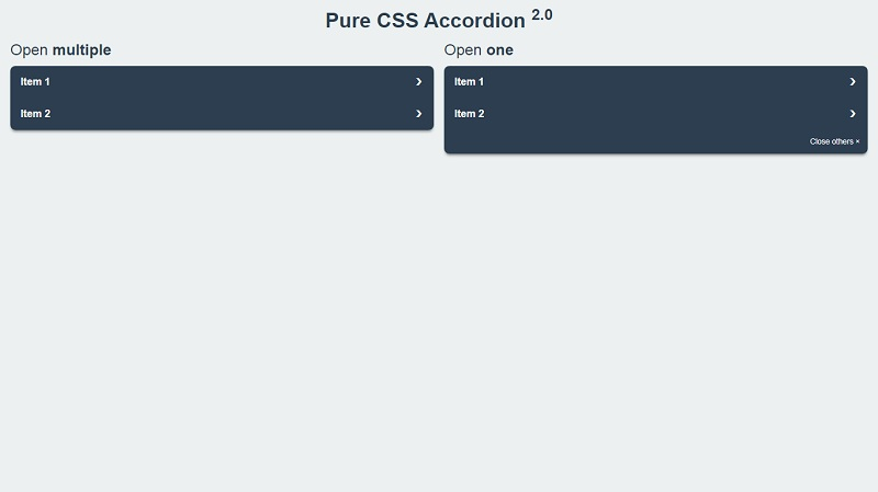 Pure CSS Accordion